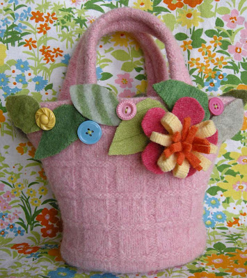 Girls Easter Mini Tote Basket 