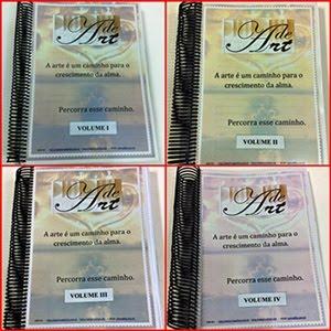 MINHAS APOSTILAS ENCADERNADAS EM 4 VOLUMES. IDÉIA DE UMA AMIGA, E COMPRADORA ASSÍDUA. (não estão à)