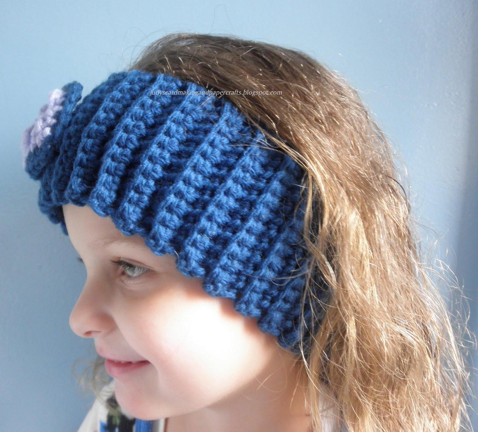 Judys Handmade Creations: Crocheted headband!