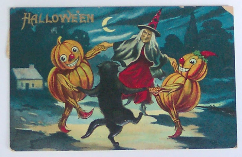 Pumpkins Dancing With A Witch