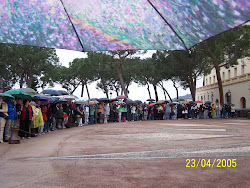 Under the Umbrellas at the Palace