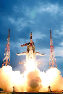 PSLV-C11 lifts off with Chandrayaan-1