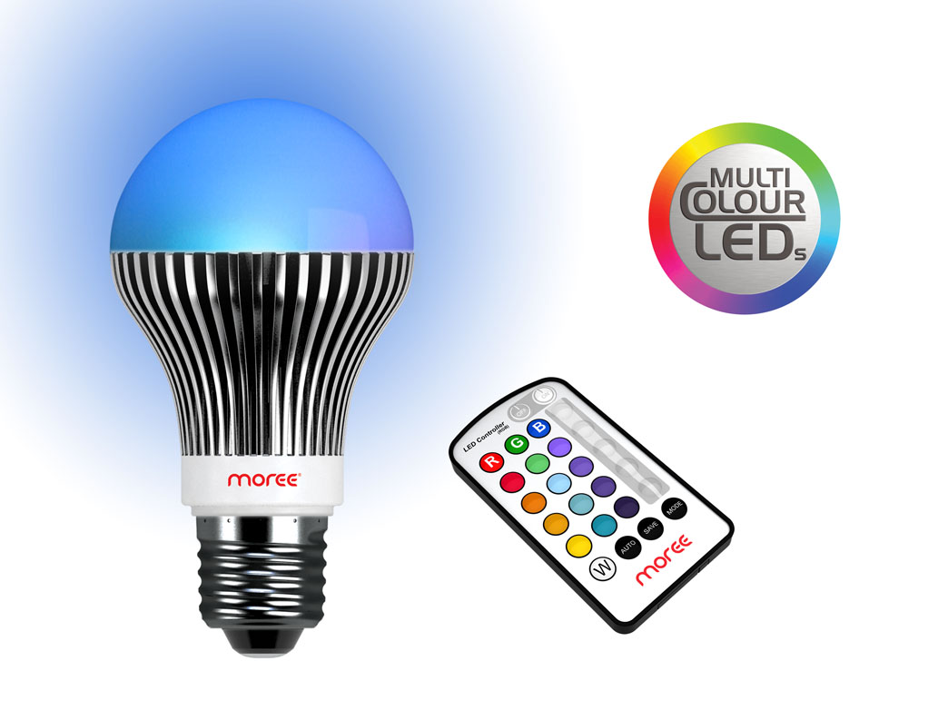 be moree led e27 bulb add the color dimension to your lighting. Black Bedroom Furniture Sets. Home Design Ideas