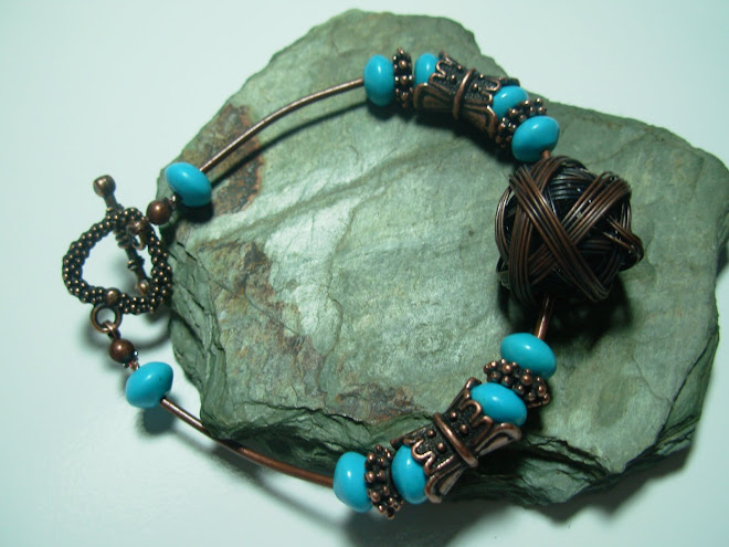 "Copper and Turquoise k""not"""