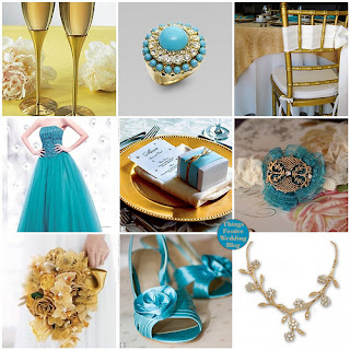 Lala bride for Turquoise gold wedding theme