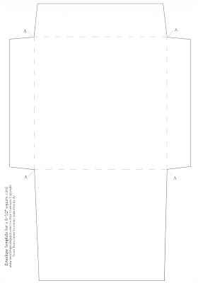 Mel Stampz: New Envelope Template (for a 5 1/2 inch square card)