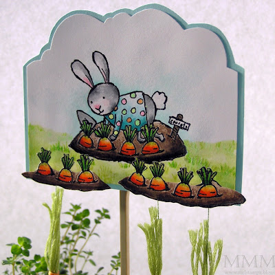 Mel stampz happy easter carrot tree for Call the easter bunny phone number