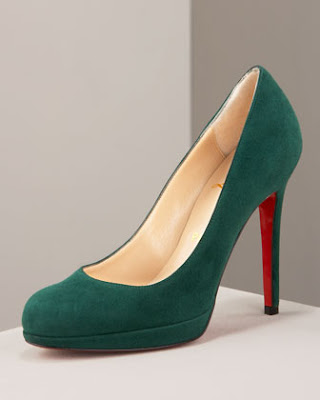 Artesur ? christian louboutin round-toe platform pumps Red suede