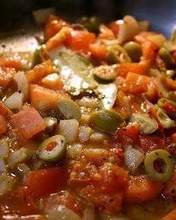 The 99 cent chef fish veracruz green olives tomato for Fish veracruz recipe