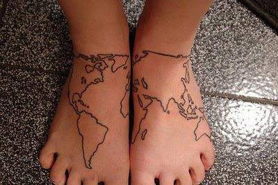 И нека обиколката по света се отбележи върху кожата ни