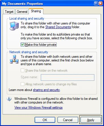 how to set an automatic windows documents folder