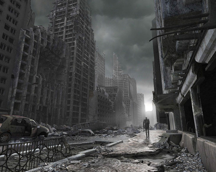 New York utcái Post-apocalyptic-street