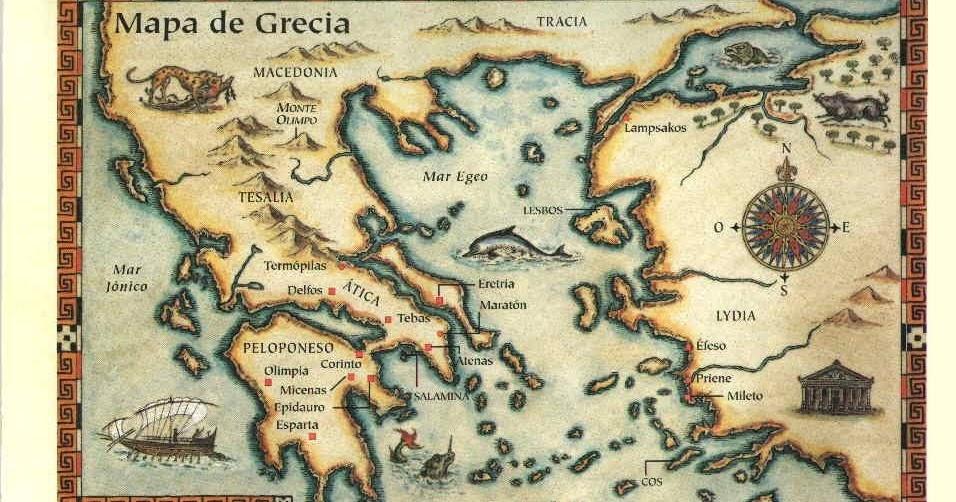 Resultado de imagen de antigua grecia mapa