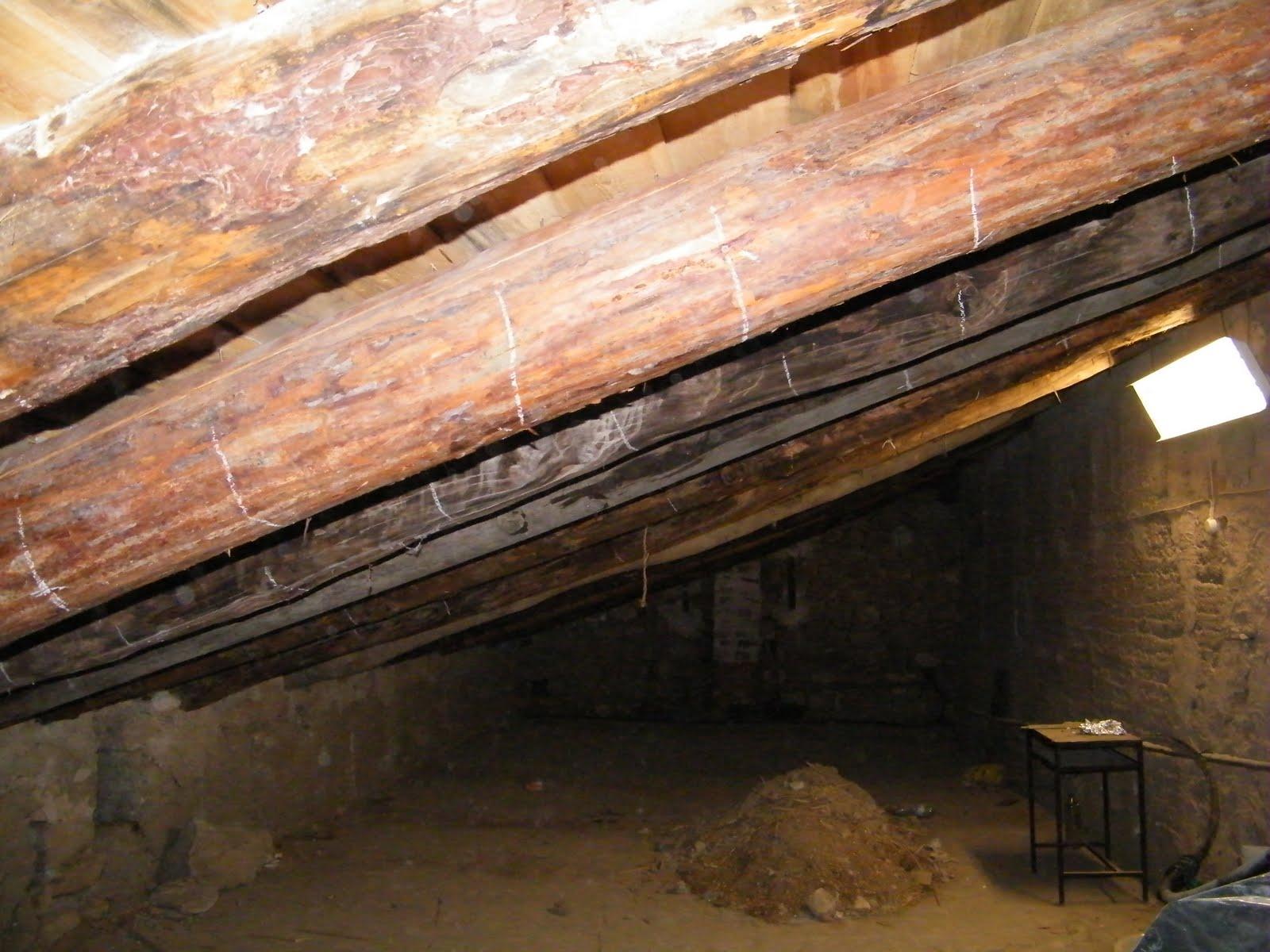 Chiquitilla del gavellar obras en el santuario del gavellar - Vigas de maderas ...