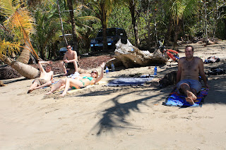 Drying out after snorkeling in Manzanillo