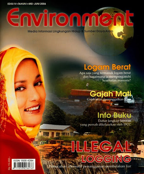Marissa Haque Cover di Majalah Environment