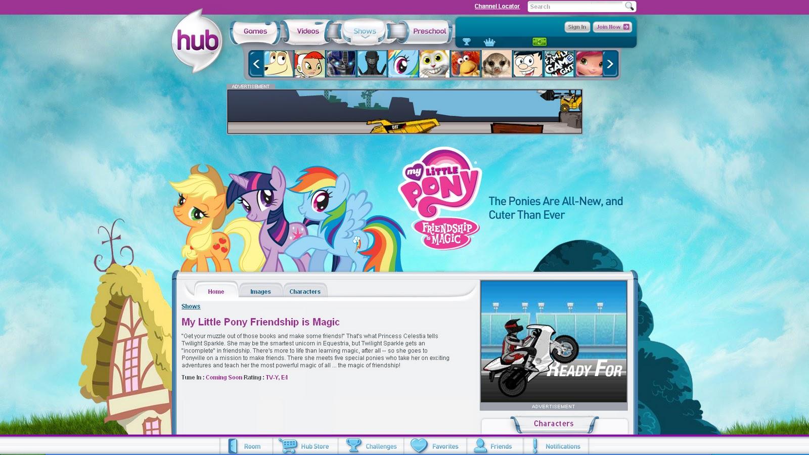 My Little Pony G4 Website updates