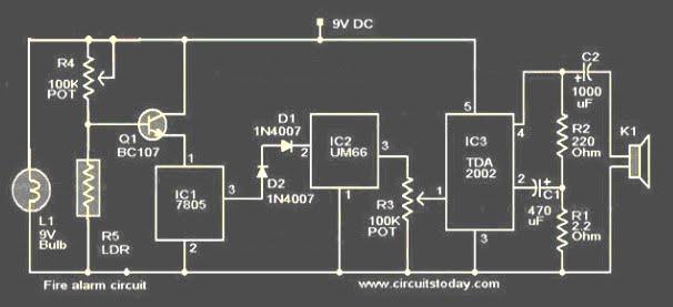 Koleksi Skema Rangkaian|Artikel Elektronika: Rangkaian Alarm ...