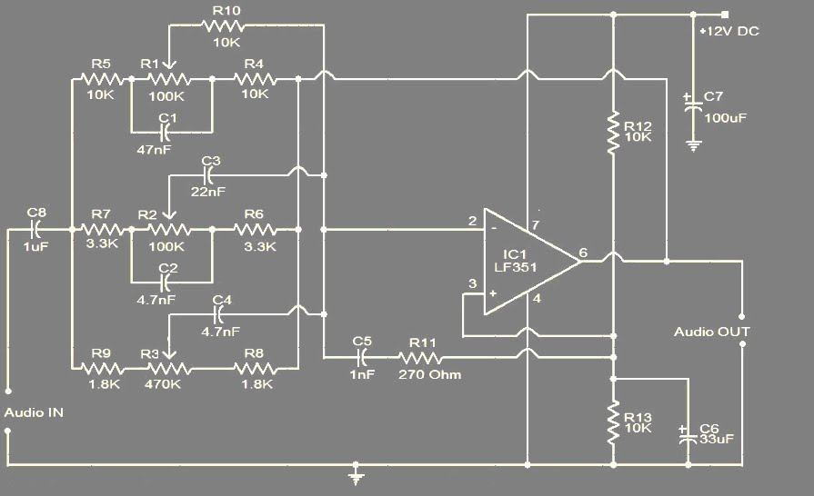 rangkaian 3 band graphic equalizer koleksi skema rangkaian artikel rh elektroarea blogspot com Audio Equalizer Circuits Diagram Electronic Circuit Boards Sdvr8jat V1.0 Schematic Diagrams
