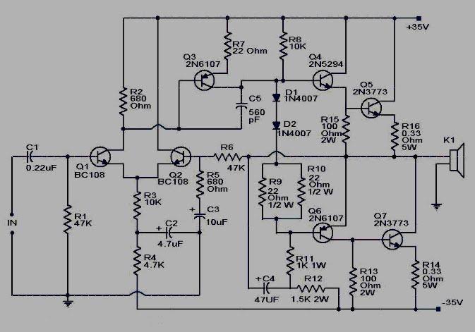 rangkaian 100 watt sub