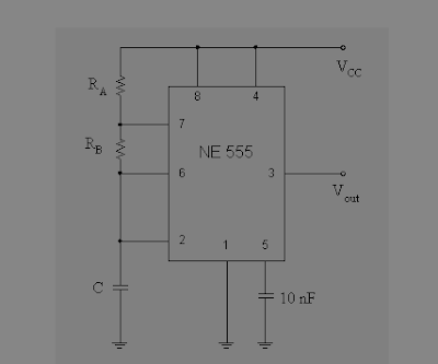 multivibrator astable used IC 555
