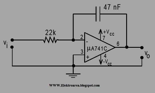 rangkaian integrator op