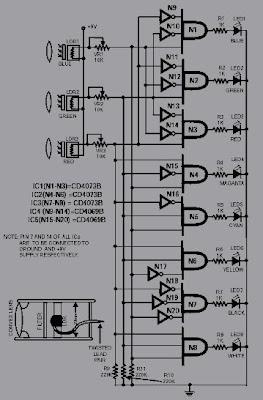 Rangkaian Sensor Pendeteksi Warna