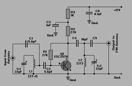 Simple Rf  lifier Circuit Diagram on 1967 ford ignition coil wiring diagram