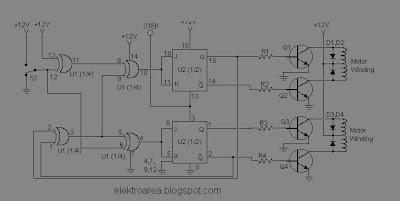 Rangkaian Control Motor Stepper