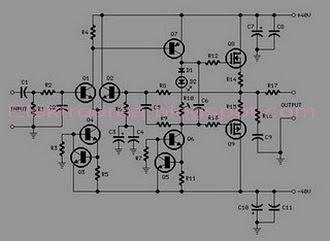Rangkaian 60watt Amplifier Mosfet