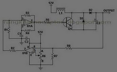 rangkaian converter 12 to 24 VDC