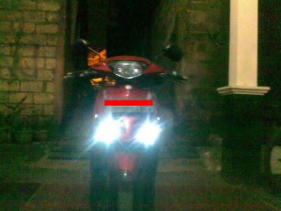cara memasang lampu LED di sepeda motor