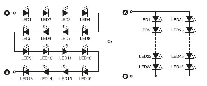 220V LED Circuit Diagram