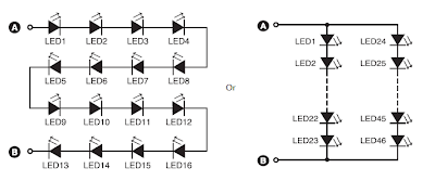 220V AC Ultra Bright LEDs lamp Circuit