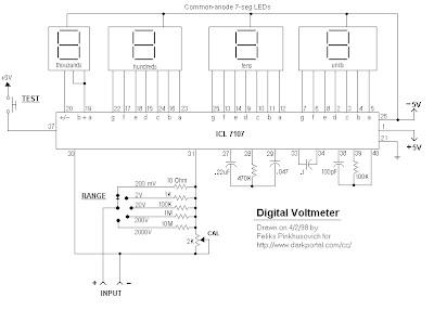 Rangakaian Voltmeter digital