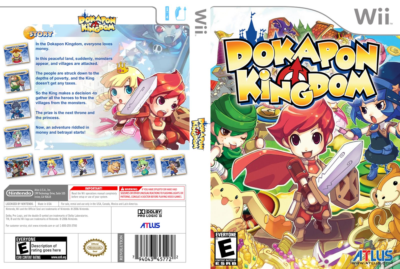 dokapon kingdom wii iso download