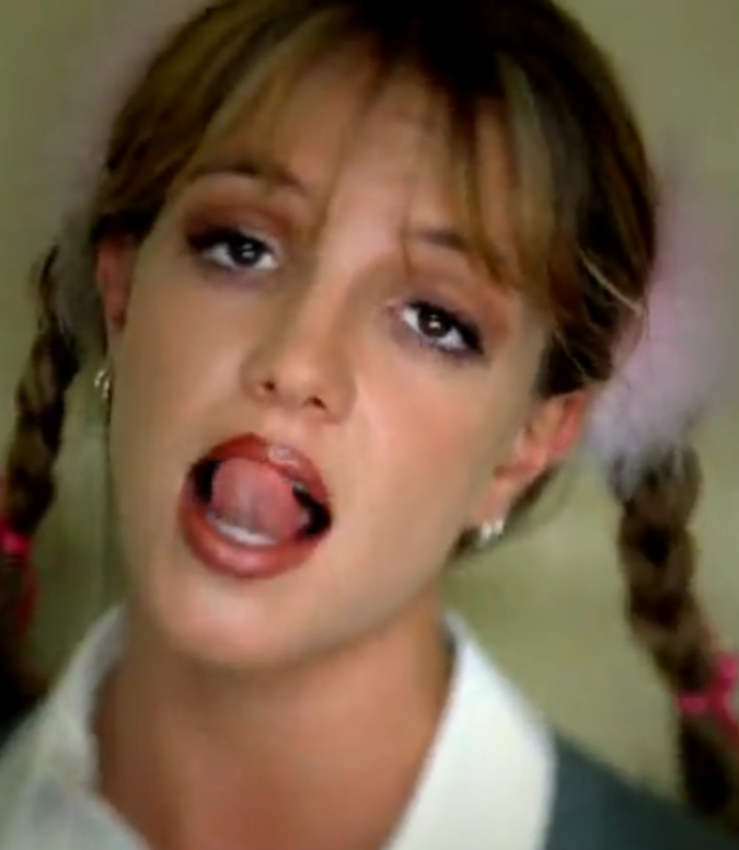 Britney your tongue is... Britney Spears