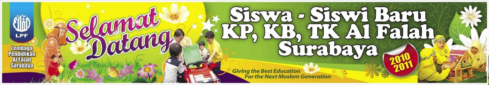 ... Tema Selamat Datang Siswa - Siswi Baru KP, KB , TK Al Falah Surabaya