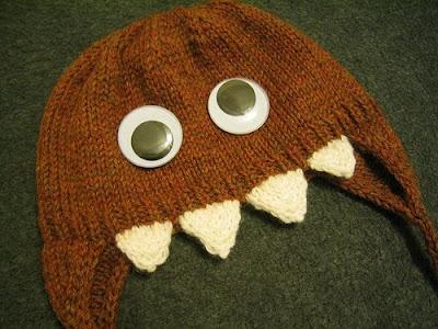 Monster Hat Knitting Pattern : because she started knitting: June 2008