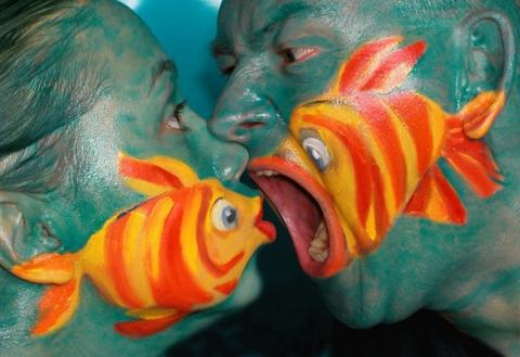 human and fish making love
