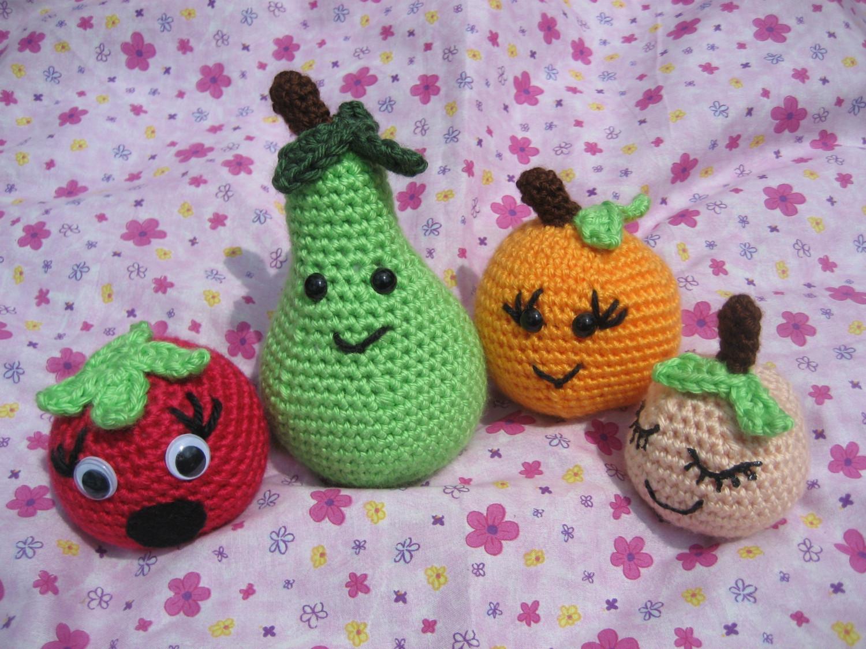 Crochet Amigurumi Vegetables : How to do Amigurumi Toys: Amigurumi fruit and vegetables