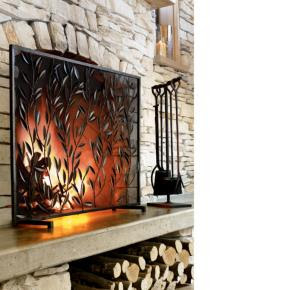 How to.... do something: How to make a faux fireplace screen ...