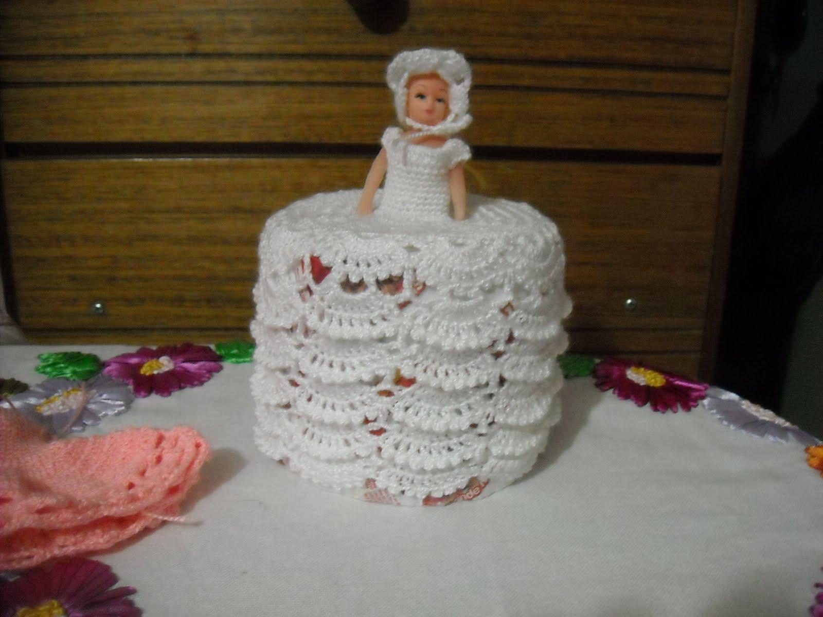 Set De Baño Tejido En Crochet Paso A Paso:MUNDO DEL TEJIDO CROCHET Y ALGO MAS: VESTIDITO ,CUBRE PAPEL HIGIENICO
