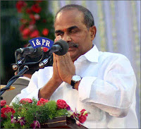 Y.S.R. Reddy, Chief Minister of Andhra Pradesh Missing