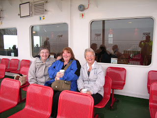 Alice, Jane, Ruth on the ferry