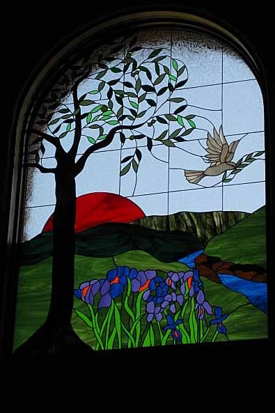 Stained Glass Craftsmen Stained Glass Olive Tree And Dove