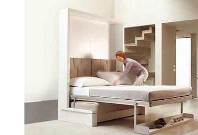 ... Utiliser un lit escamotable ( maison du convertible ou espace loggia