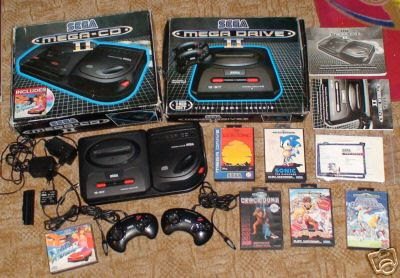 Sega Mega Drive 2 and mega CD 2 collection