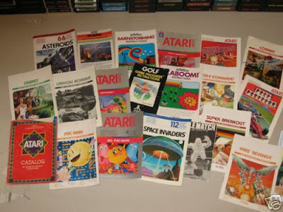 atari retro 2600 manuals books