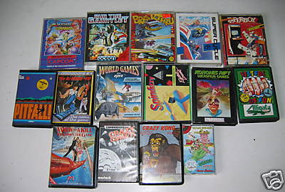 c64 games tape boxes